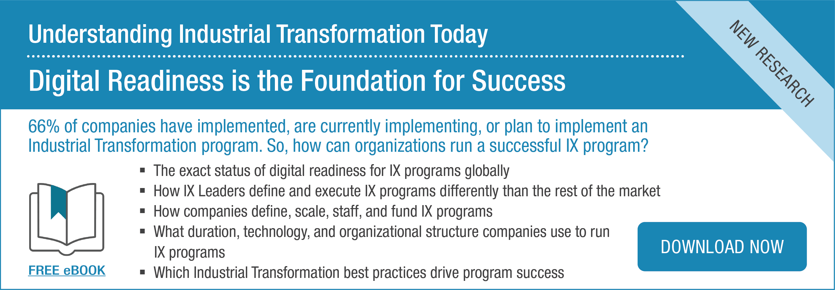 Ebook | Understanding Industrial Transformation (IX) Today: Digital Readiness is the Foundation for Success