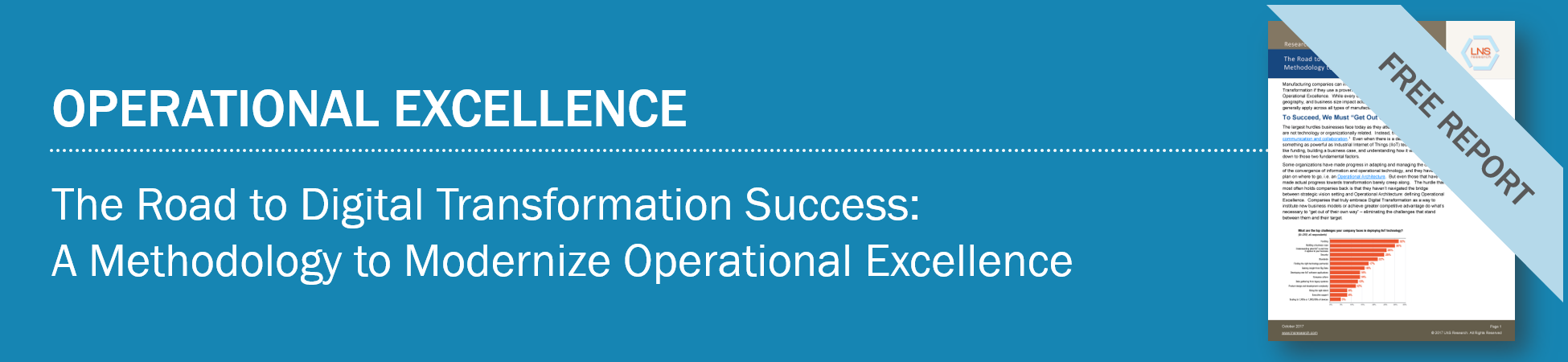 The Road to Digital Transformation Success: A Methodology to Modernize Operational Excellence