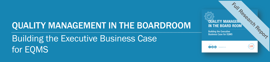 eBook: Quality Management in The Board Room: Building Business Case for EQMS case