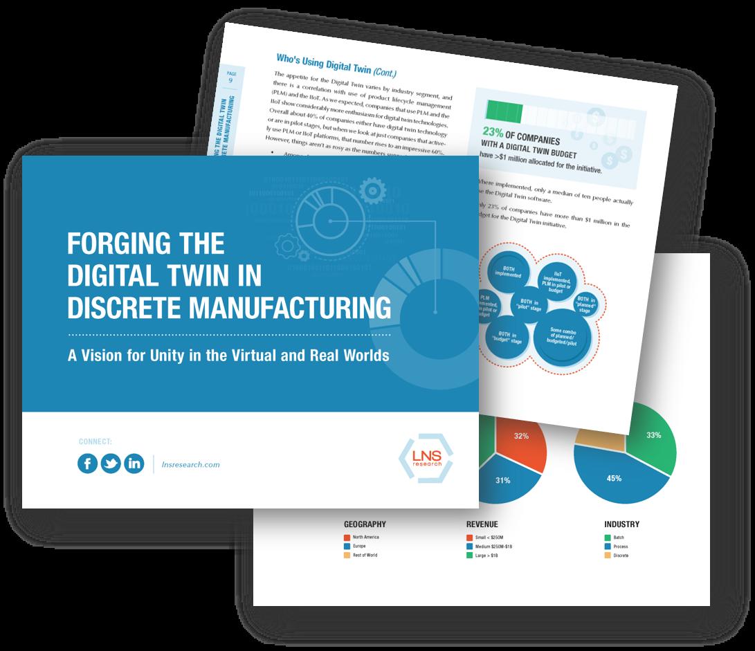 Ebook: Forging the Digital Twin in Discrete Manufacturing