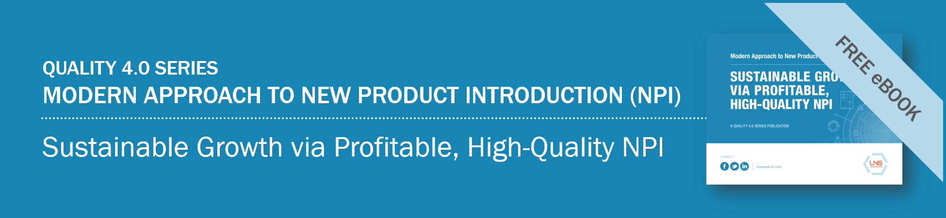 eBook: Modern Approach to New Product Introduction (NPI): Sustainable Growth Via Profitable, High-Quality NPI