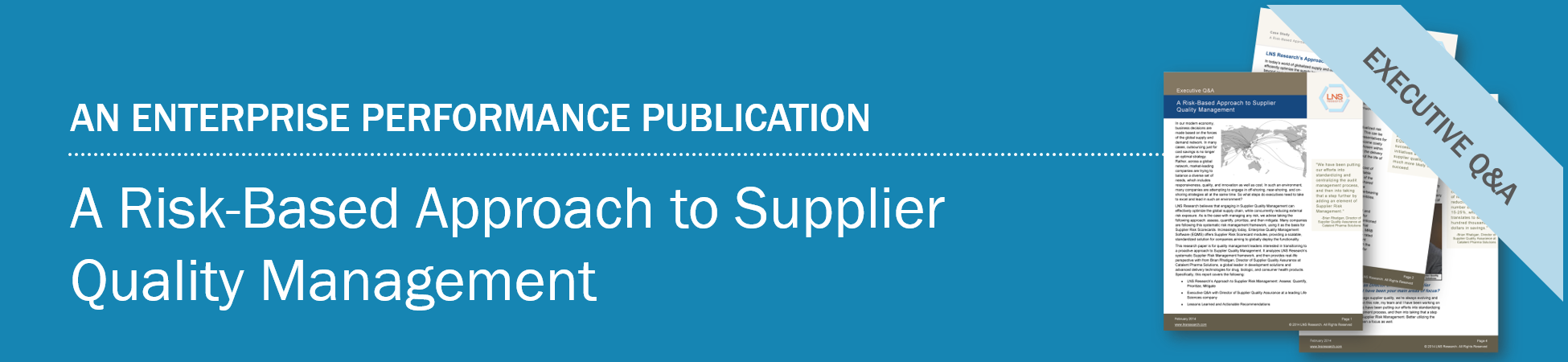 Research Spotlight: A Risk-Based Approach to Supplier Quality Management