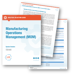 Manufacturing Operations Management (MOM) Solution Selection Guide