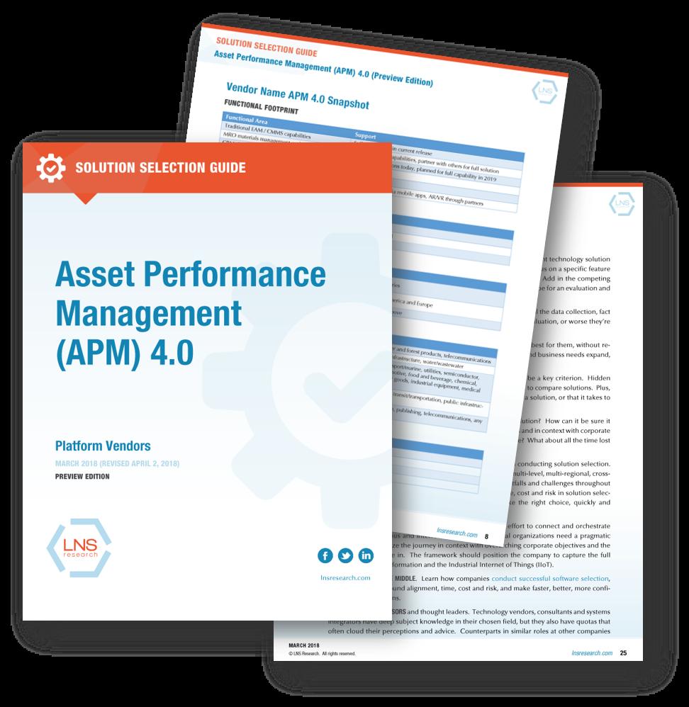 Solution Selection Guide: Asset Performance Management (APM) 4.0 Platform Vendors