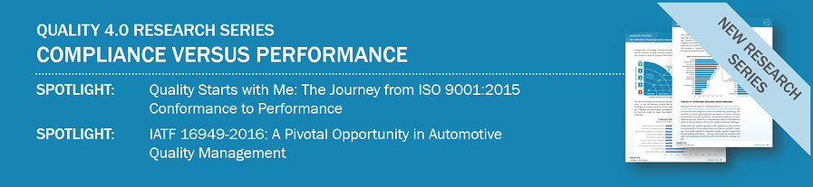 Quality 4.0 Compliance Versus Performance Research Series