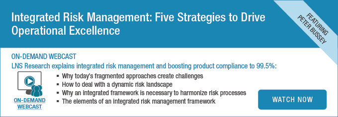Webcast: Integrated Risk Management: Five Strategies to Drive Operational Excellence