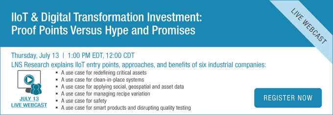 IIoT and Digital Transformation Investment. Proof Points Versus Hype and Promises