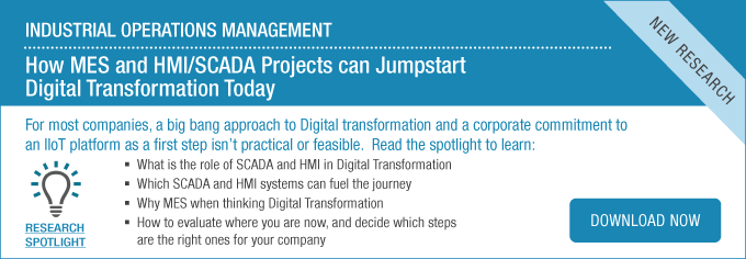 How MES and HMI/SCADA Projects can Jumpstart Digital Transformation Today