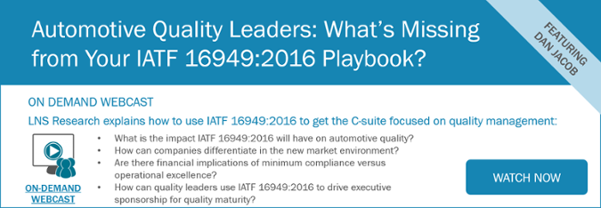 Automotive Quality Leaders: What's Missing from Your IATF 16949:2016 Playbook? [Webcast]